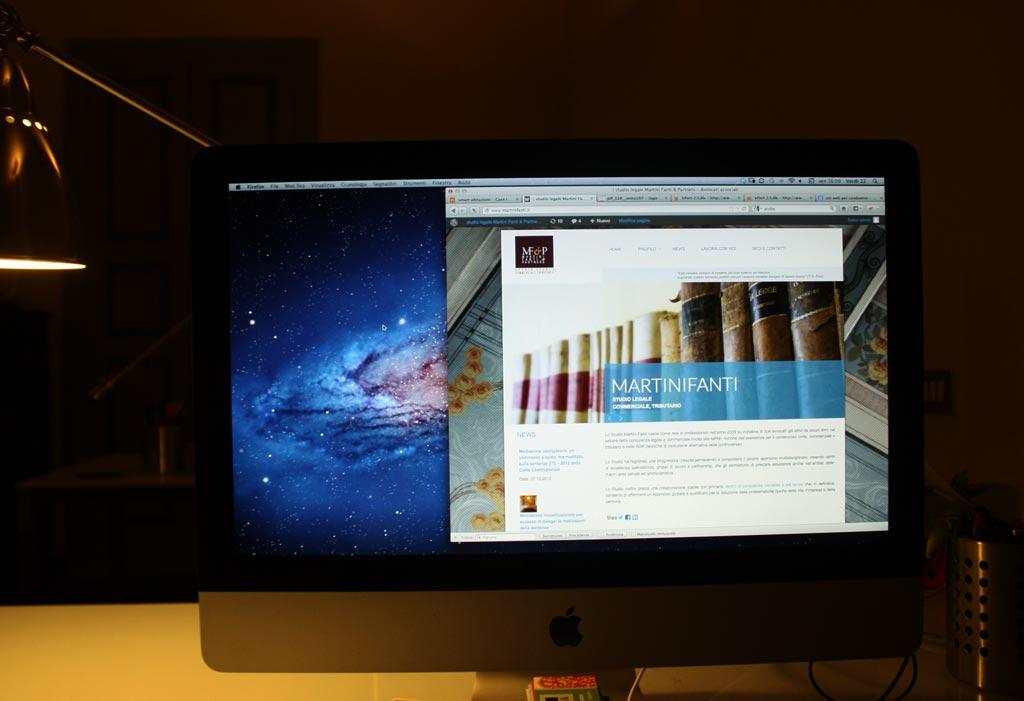 Restyling del sito web per lo studio legale Martini Fanti.